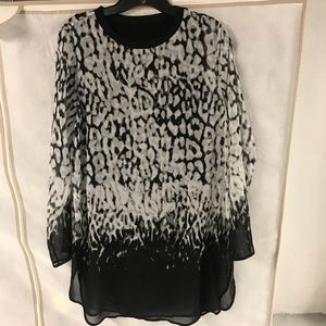 Calvin Klein Leopard Tunic With Tank size S